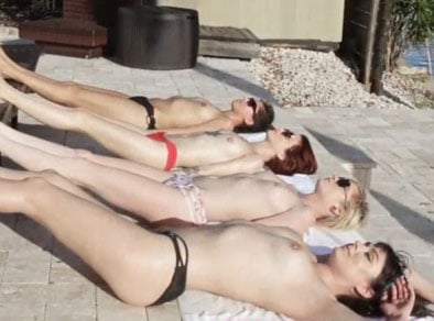 Orgia lésbica en fiesta de jovencitas borrachas